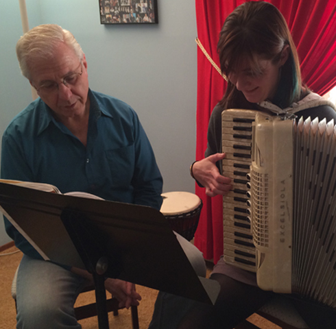 accordion lessons with John Custie